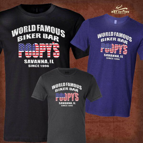 T-SHIRT-WORLD FAMOUS-BLUE