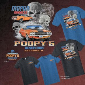 T-SHIRT-MOPAR MADNESS-GRAY