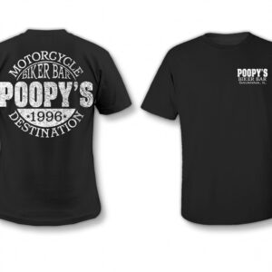 Poopy's motorcycle destination T-shirt