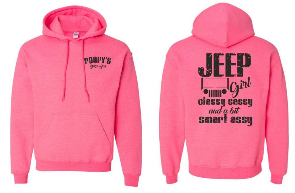 Hoodie- Jeep girl pink