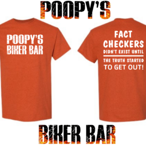 Poopy's Fact checkers T shirt